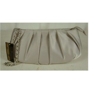 New with Tags!!! Sasha Silver Polyester Clutch